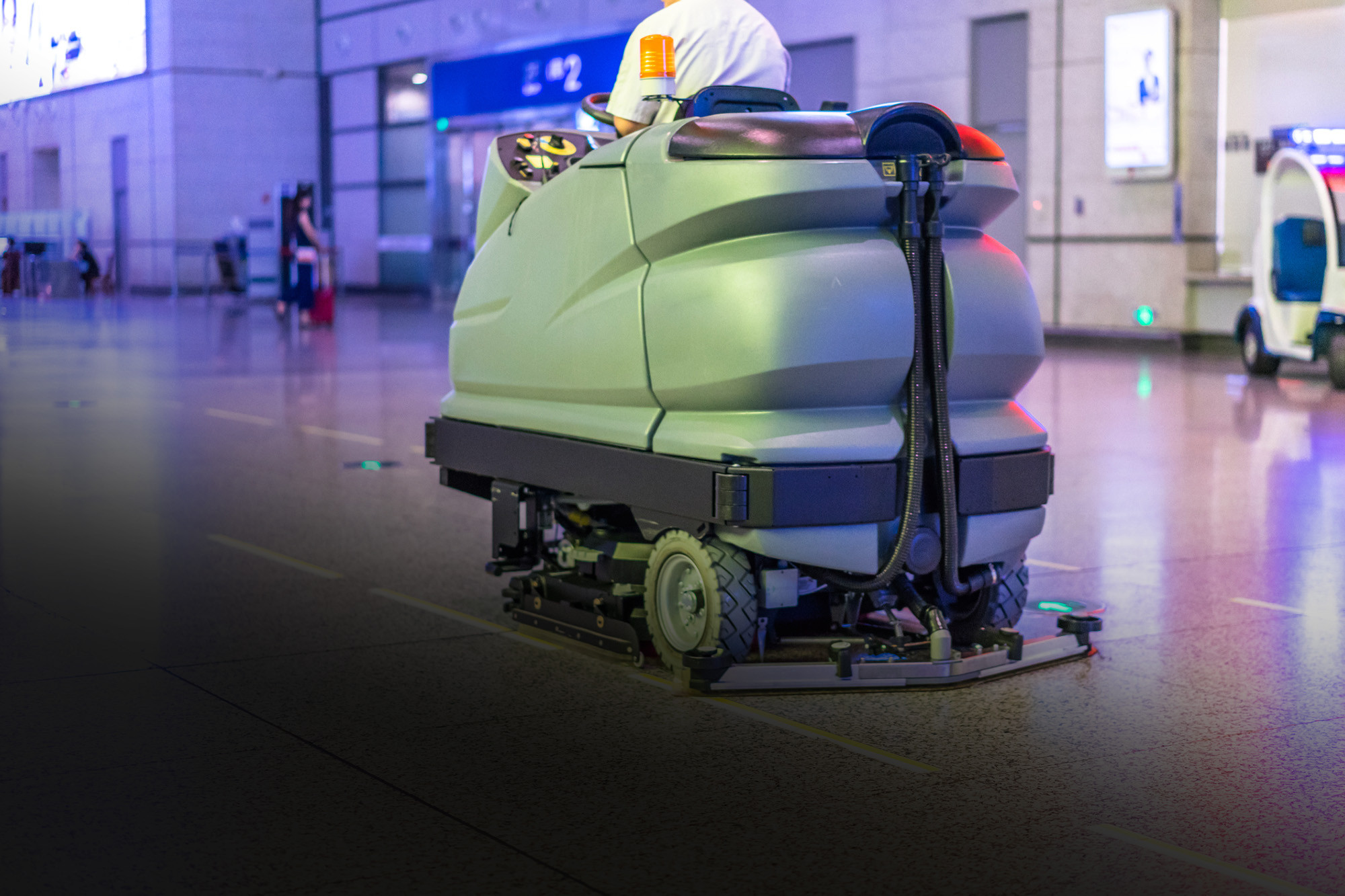 Electric powered cleaning machines for demanding applications